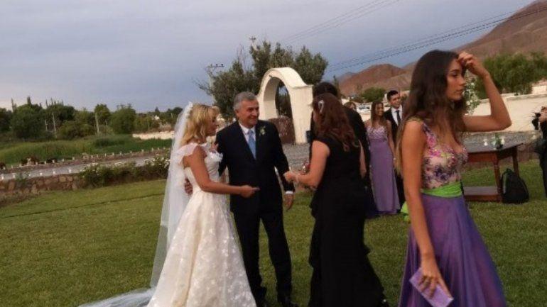 Las primeras imágenes del casamiento de Gerardo Morales y Tulia Snopek