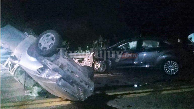 Choque frontal en la Ruta 66 altura Las Pampitas: confirman dos muertos y ocho heridos