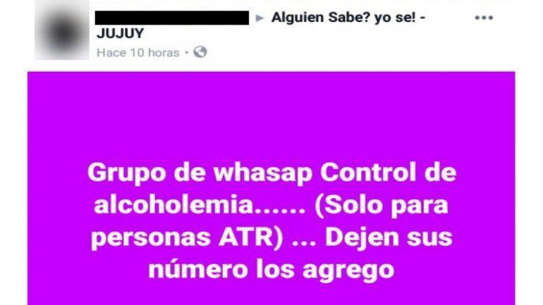 Seguimos sin tomar conciencia: aparecieron grupos de WhatsApp para eludir controles de alcoholemia