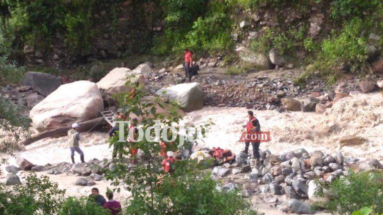 Varios jujeños debieron ser rescatados por la crecida del río Yala