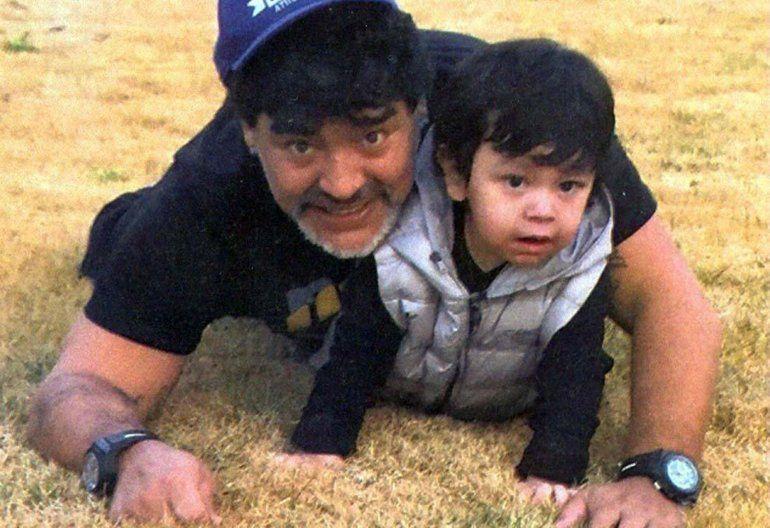 Diego Maradona se reencontró con su hijo Dieguito tras dos años