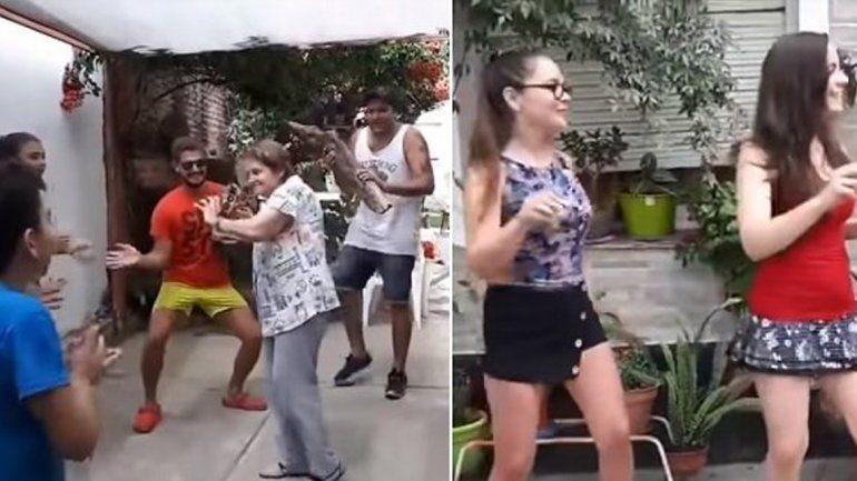 Una familia rosarina se hizo viral bailando el hit del verano