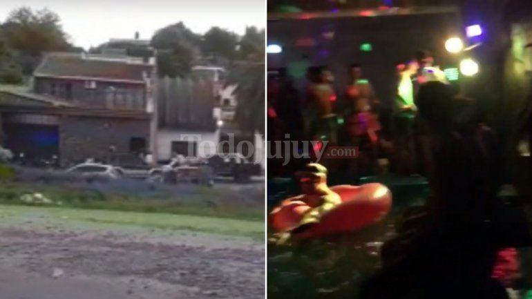 Importante operativo policial en una fiesta clandestina terminó con 60 menores de edad demorados