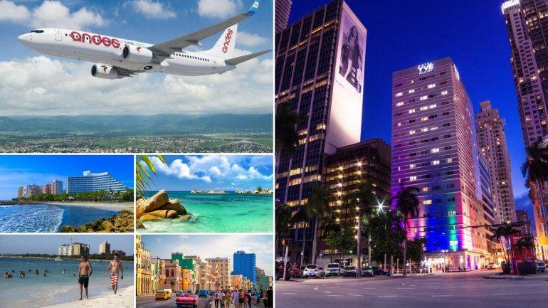 ¿Se vienen vuelos desde Jujuy hasta Miami?