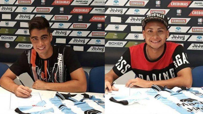 Dos juveniles firmaron su primer contrato profesional en el Lobo