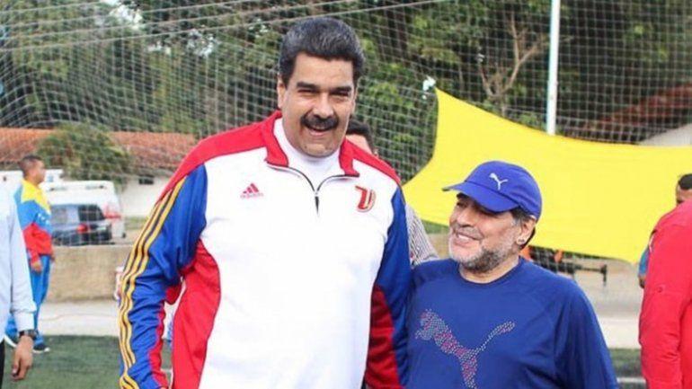 No pudieron con Fidel ni con Hugo, menos podrán con vos el apoyo de Maradona a Maduro