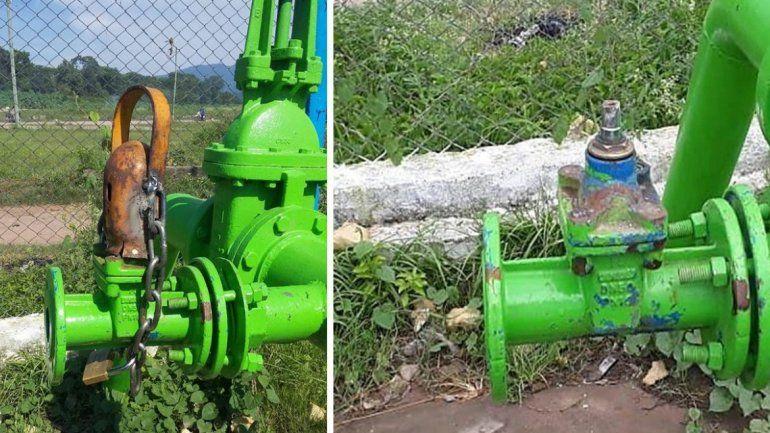 Vandalismo y egoísmo: dañaron el bombeo de un pozo que abastece barrios de Ledesma