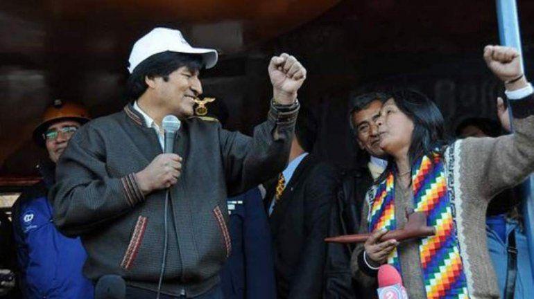 Evo Morales se solidarizó con la hermana Milagro Sala