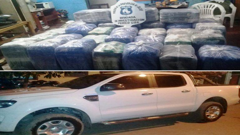 Secuestraron en Perico 600 kilos de hojas de coca valuado en un millón de pesos
