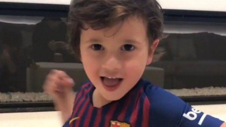 Mateo Messi conquistó las redes sociales cantando la canción del Zorro