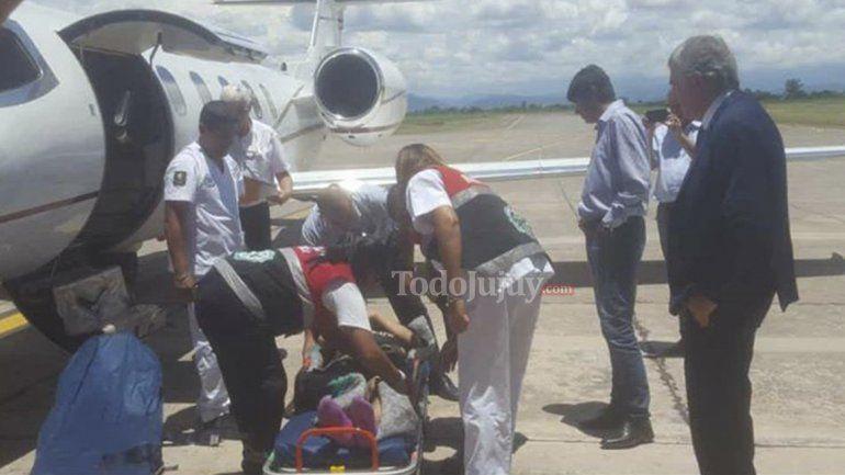 El jujeño accidentado en Bolivia llegó a Jujuy y será operado en el Pablo Soria