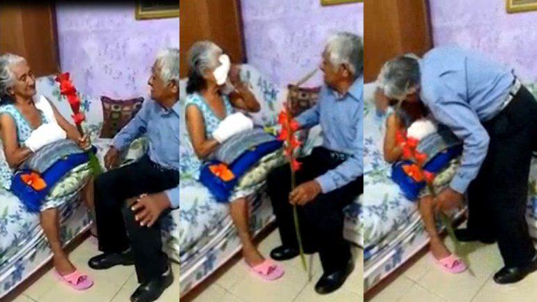 ¡La declaración de amor más tierna! Los abuelos emocionaron a todos en las redes