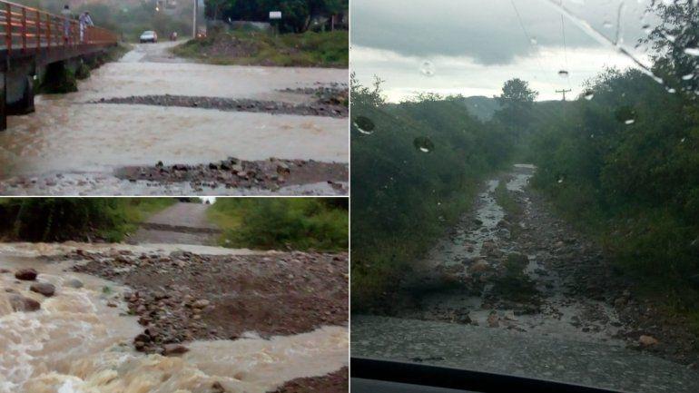 Almona-Juan Galán: las lluvias interrumpieron el paso vecinal y trabajan en la zona para restablecer el tránsito