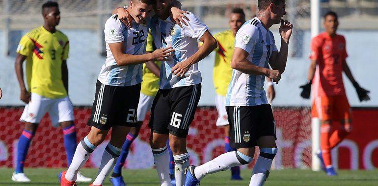 Argentina venció a Colombia en el Sudamericano Sub 20