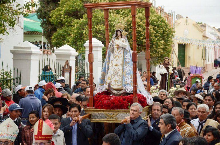 Jujeños honraron a la Virgen de la Candelaria en Humahuaca
