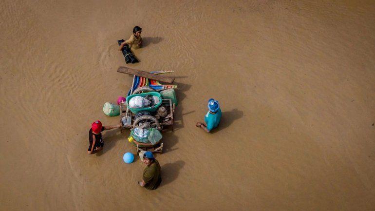 El río Pilcomayo creció en Bolivia y temen por catastróficas inundaciones en Salta