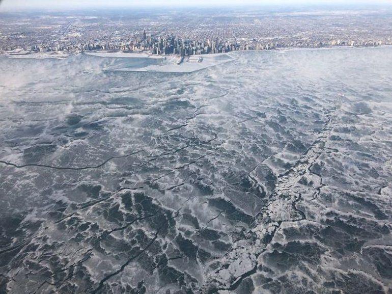 Imágenes increíbles del frío que azota a Estados Unidos