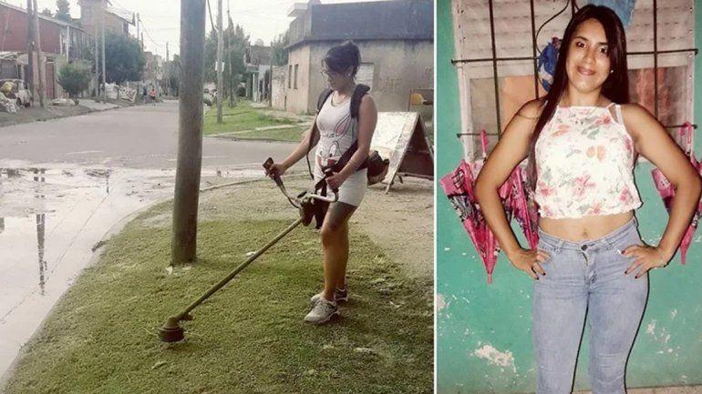 ¡Vergüenza es salir a robar!: una mamá corta el pasto para alimentar a sus hijos y terminar su casa