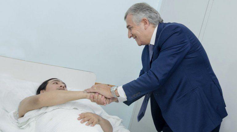 Gerardo Morales visitó a Manuel Vilca después de la operación