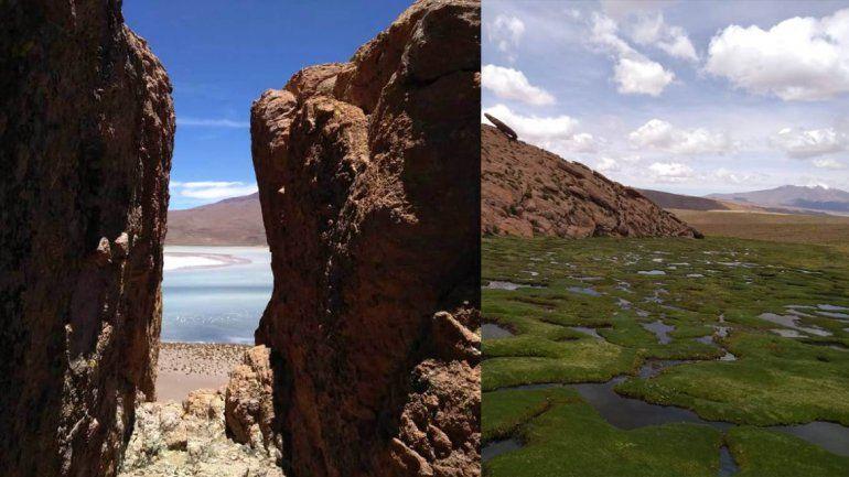 La Laguna y el Volcán Vilama, dos maravillas en la triple frontera de Jujuy con Bolivia y Chile