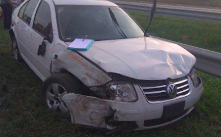 Uno de los autos que el jóven conductor chocó