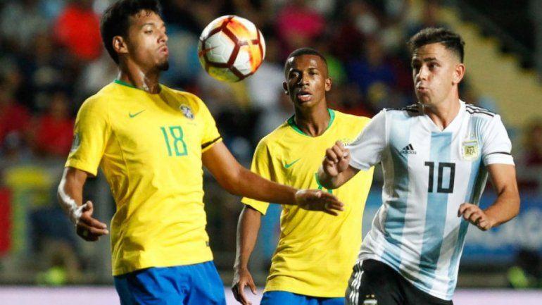 La Selección Argentina perdió 1 a 0 con Brasil y terminó segunda en el Sudamericano Sub 20