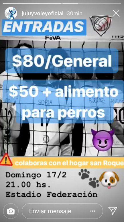 Los Diablos Azules jugarán por el Hogar San Roque: recaudarán alimento para perros el domingo en el encuentro frente a Paracao