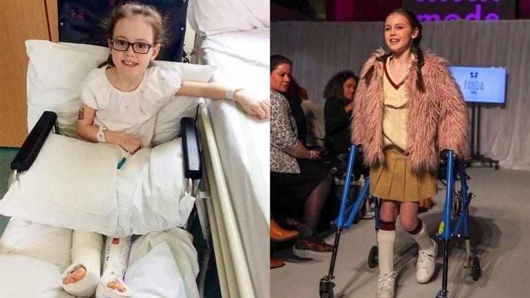 Su parálisis cerebral no fue un impedimento para desfilar a los 11 años en la semana de la moda