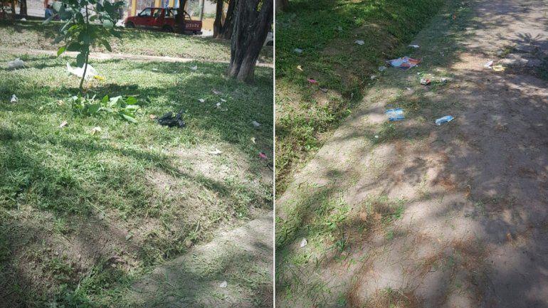 De vecino a vecino: piden cuidar la limpieza de la plaza de barrio San Martín