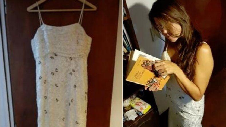 Se divorció y sus amigos subastan el vestido de novia para hacer un asado