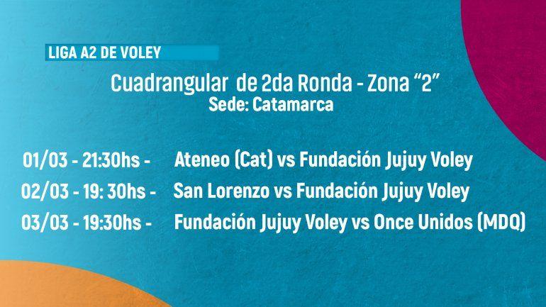 Jujuy Voley debuta hoy en Catarmarca por el cuadrangular de la segunda ronda