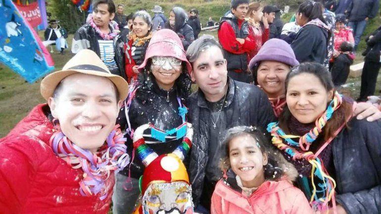Jujeños que viven en Ushuaia festejaron el carnaval como si estuvieran en casa
