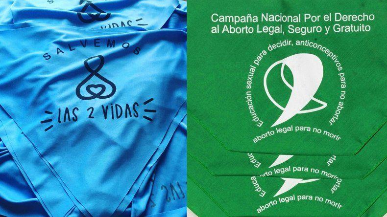Los partidos políticos podrán usar los pañuelos verdes y celestes en las boletas