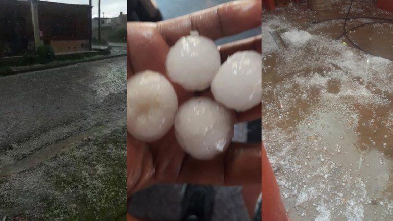 Lluvia y granizo: un temporal sorprendió a la ciudad de La Quiaca