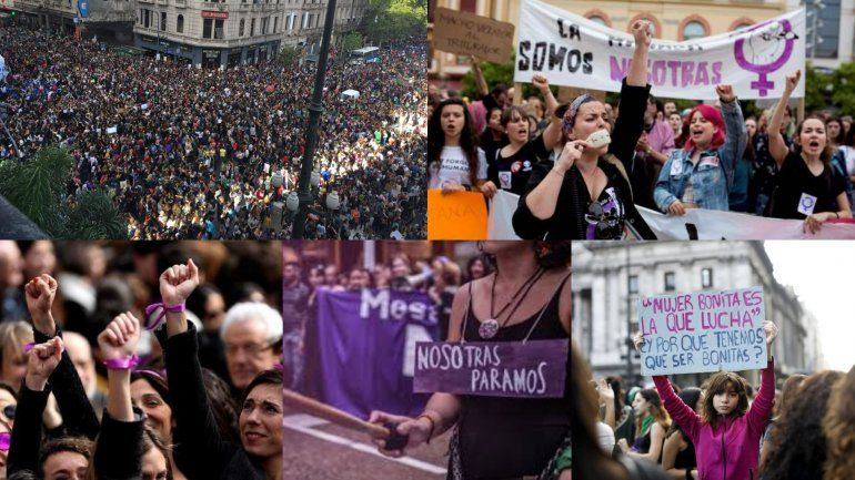 8M: marchas y manifestaciones se replicaron en distintos puntos del país