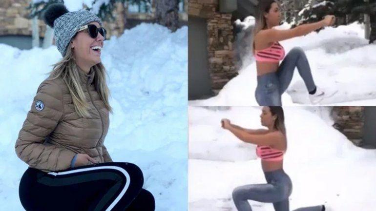 La exigente rutina de Flopy Tesouro en la nieve