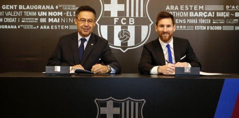 En Barcelona ya comienza el operativo para extender el contrato de Lionel Messi
