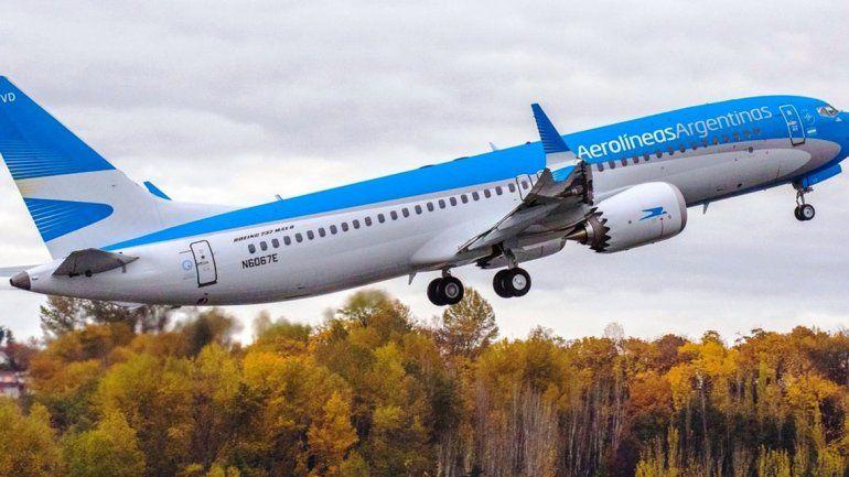 Aerolíneas Argentinas deja de usar los Boeing 737 MAX8 para sus vuelos