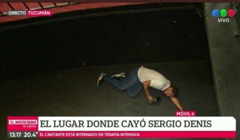 Recrearon la caída de Sergio Denis y estalló la polémica en redes sociales