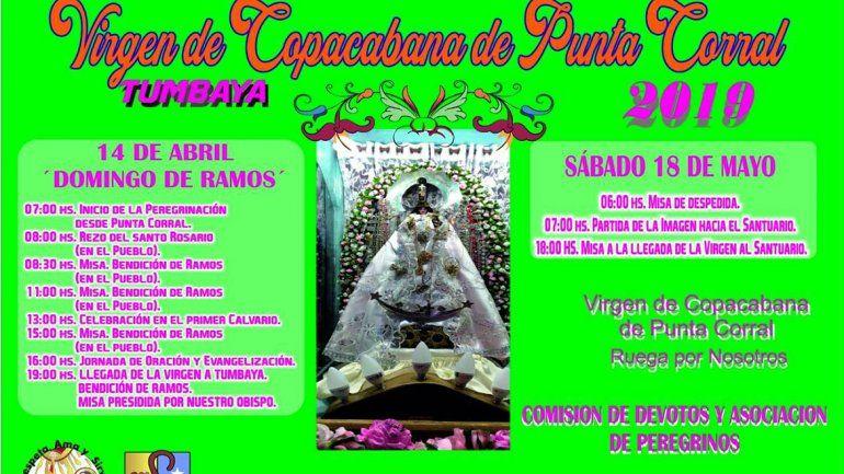 Peregrinos preparan el ascenso para honrar a la Virgen de Punta Corral