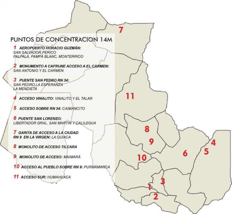 Día complicado en Jujuy: el SEOM concentra en las rutas contra Mauricio Macri