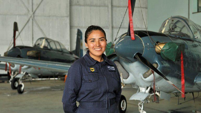 Julieta Chauque, la jujeña que se destaca en las filas de la Armada Argentina