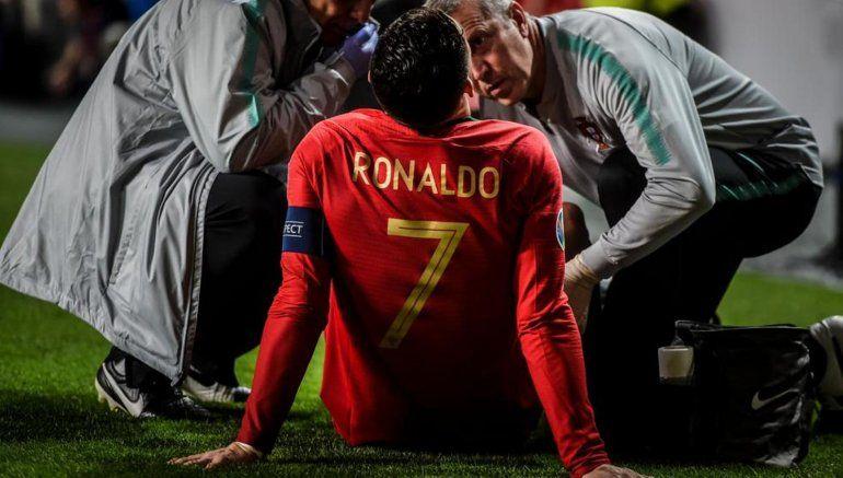Preocupación en la Juventus: Se lesionó Cristiano Ronaldo