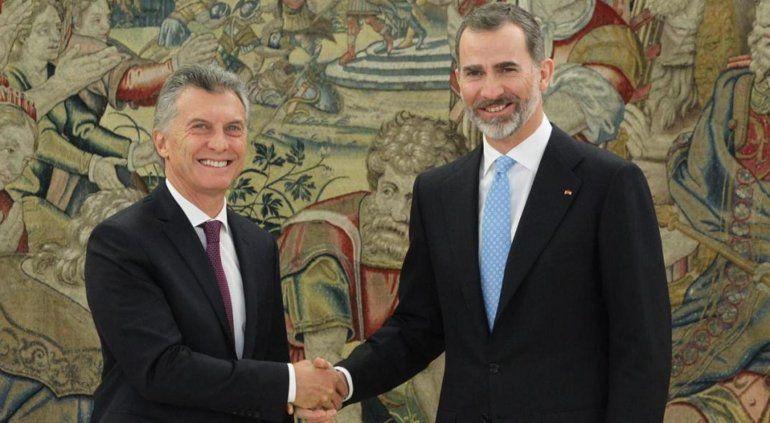 El rey Felipe IV y Macri se reunirán para abrir nuevos negocios con empresarios