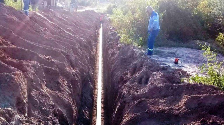 Finalizaron las nuevas redes de agua potable y cloacas para barrios de El Piquete
