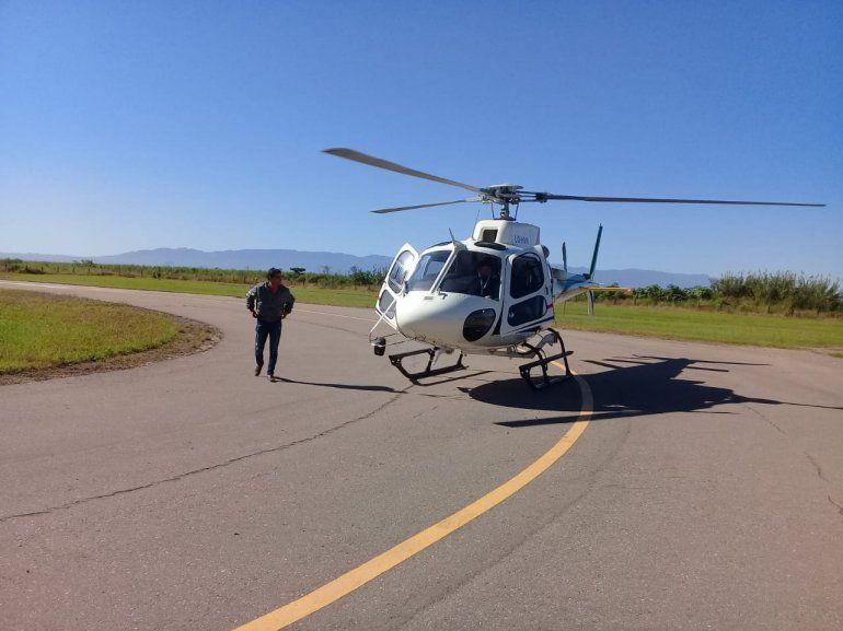 Continúa la búsqueda de María Machuca con el helicóptero sanitario de la provincia