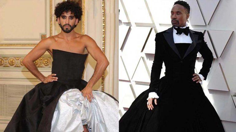 El extravagante look de Gabo Usandivaras para la foto del Bailando ¿inspiración o copia?