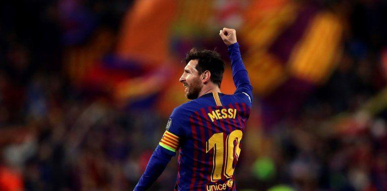 Messi volvió a brillar y Barcelona se metió en semis con una goleada