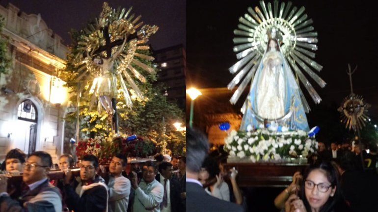 Culminó la visita de las imágenes del Señor y la Virgen del Milagro en la provincia