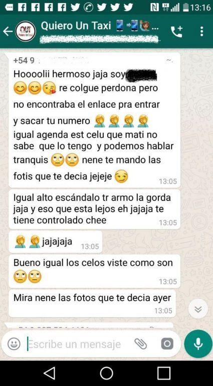 Salteña mandó por error fotos hot a un grupo de WhatsApp